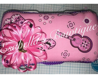 Pink Cowgirl travel wipe case;gilrs wipe cases;baby accessories;custom wipe cases