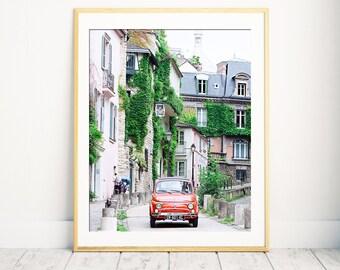Paris Photography, Paris bedroom decor, office decor, Modern Large Print, Unique Travel Poster, Extra Large Wall Art, Montmartre