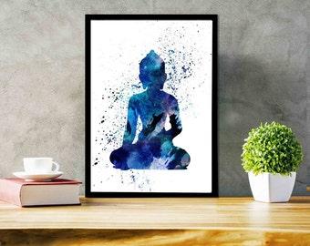 Yoga Poster Buddha Prints Buddha Wall Art Meditation Room Decor Spiritual Room Decor