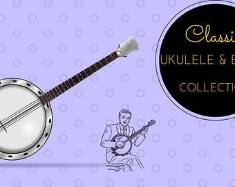 Ukulele Banjo Banjolele Songs Music String Learn How To Play ~ 59 Rare Old Books