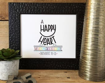Scripture, Bible Verse, Quote, Hand Lettered, Hand Drawn, Encouragement, Proverbs, Print, Valentines Day