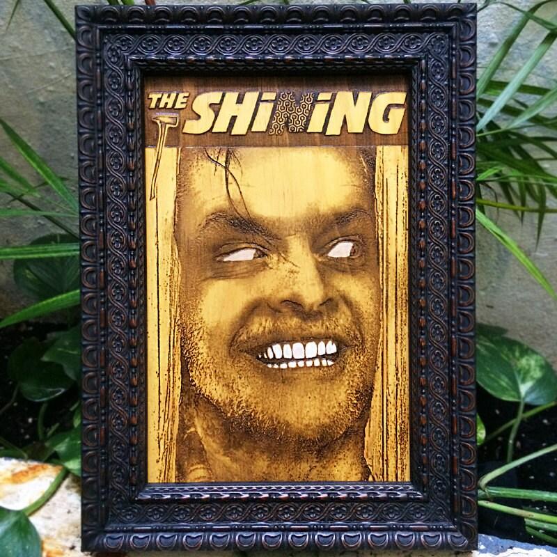 The Shining Poster Jack Nicholson Laser Engraved Wood