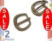 "On Sale : 5/8 Inch D Buckle, Antique Brass / Bronze Finish, 2 Pack, Buckle for Purse Straps, Handbag Bag Making Hardware, 5/8"", BKS-AA063"