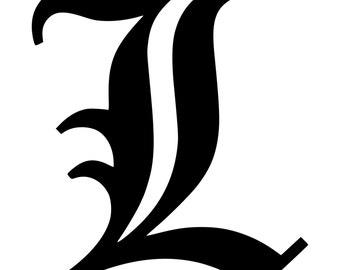 Letter C Old English Lettering Alphabet Vinyl Decal