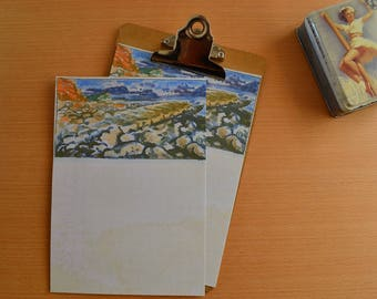 View from Charmouth Beach Writing Paper-Stationery-Note Paper