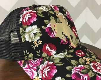 Wyoming floral baseball hat