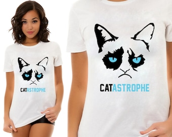 Cat Astrophe, Fun Shirt, T-Shirts, Gift For Him, Gift For Her, Gift For Kids,  Custom Shirt, Heat Transfer Vinyl