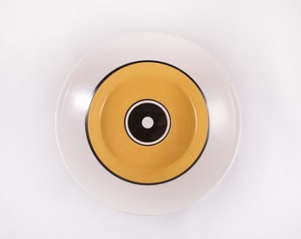 Set of 5 Mikasa Epiqure One Bowls Collage D4321 Yellow Black Circle Mid Century Modern Ben Seibel Mod