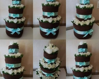 3 Tier Towel Cake