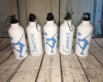 SALE Bpa free Personalized Ice Figure Skater metal Water Bottle Team Gift