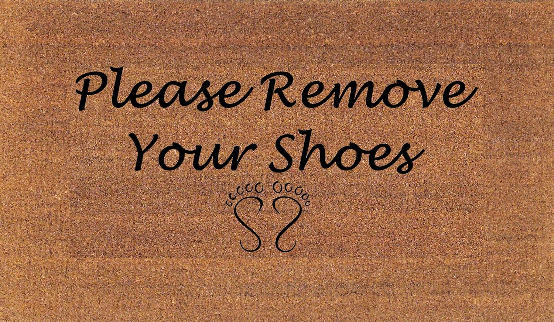 Please remove your shoes door mat housewarming gift coir - Remove shoes doormat ...