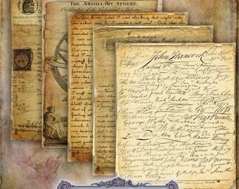 15 Shabby Ephemera Papers