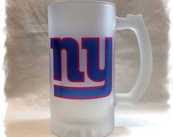 New York Giants Frosted 16 ounce Beer Mug