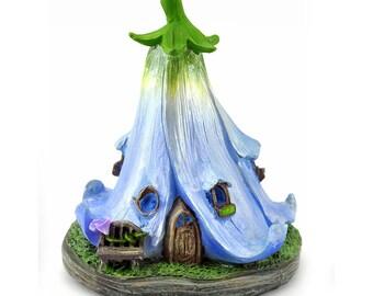 Morning Glory Fairy House - Blue