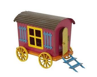 Fairy Garden  - Mini Gypsy Wagon - Miniature