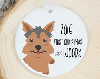 First Christmas Ornament - Personalized Pet Ornament - Dog Gift - Welcome Yorkshire Terrier