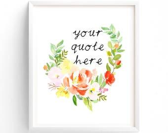 Custom Printable Quote Change
