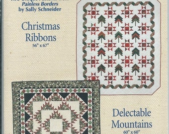 Christmas Ribbons and Delectable Mountains Pattern