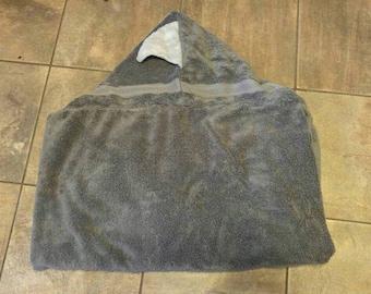 Adult hooded shark towel
