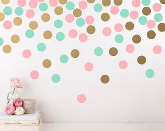 Polka Dot Wall Decals   Multicolored Wall Decals, Nursery Decals, Confetti  Decals, Modern Part 7