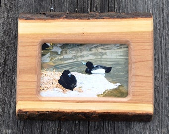 Motheru0027s Day Gift ,log Cabin Decor, 4 X 6 Wood Picture Frame, Handmade