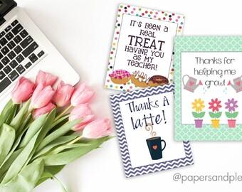 Teacher Appreciation Week Thank You Gift Tags | End of the Year Thank You Gifts | Teacher Thank You Gifts | Teacher Gifts - Printable File