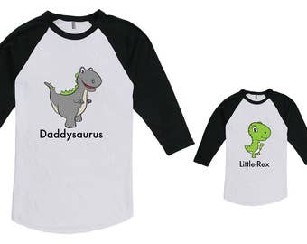 Daddysaurus & Little-Rex Dinosaur Matching Father Son Shirt Fathers Day Christmas Gift, Etsy T-shirt, Dinosaur Shirt not Bodysuit CT-994-993