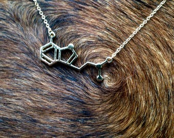 Gold DMT Chemistry Molecular Structure Necklace