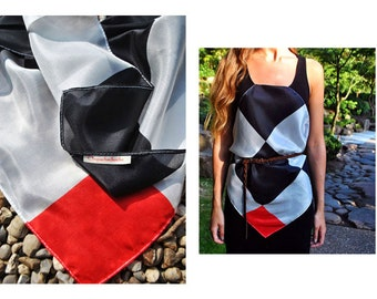 Silk scarf Red