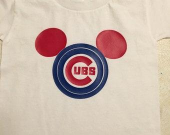 Disney Chicago Cubsl Mickey Minnie peronalized Head T-Shirt Sweatshirt