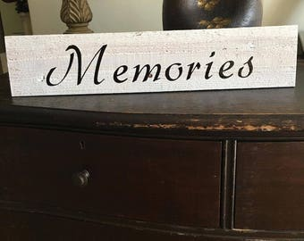 "Custom Wood Sign - Wood Wall Decor - ""Memories"" Wood Sign - Wall Decor - Wall Art"