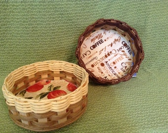 Hand Woven Small Lazy Susan Basket