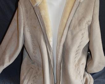 Vintage Gray/ Tan Fleet Street Jacket (Size: XL)