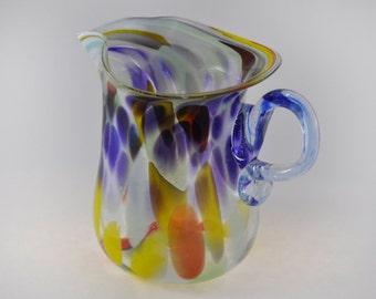 gallerymichel Clark Guettel End-of-Day Hand Blown Spatter Glass Pitcher