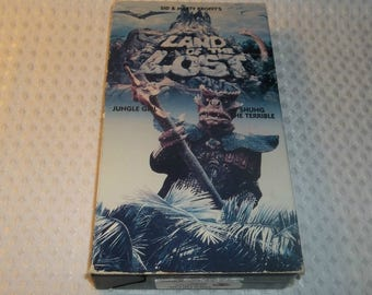 LAND Of The LOST VHS Video  Jungle Girl  Shung The Terrible Sid and Marty Krofft Saturday Morning Cartoons Dinosaur Sleestak