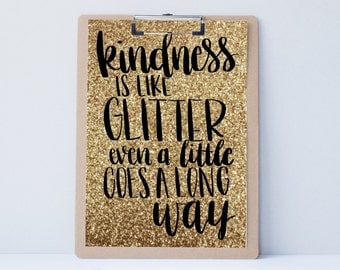Kindness Hand lettered home wall art, print, typography gift, holiday present, bedroom home decor quote, card, mom sister friend dad brother