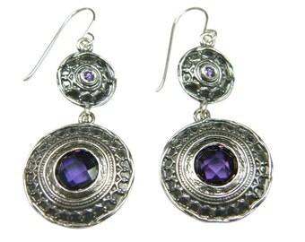 amethyst earrings, february Birthstone, bohemian earrings, february earrings, boho earrings, dangle earrings, bohemian amethyst earrings