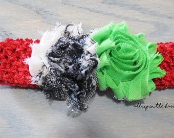 Baby Christmas Headband - Green Baby Headband - White Baby Headband - Red Baby Headband - Holiday Baby Headband