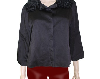 Andrew GN Vintage Black Ruffled Jacket