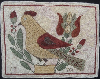 1770 Bird Fraktur Rug Hooking Pattern