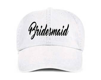 Bridesmaid Bridal Baseball Style Hat/Cap/Bridal/Wedding/Special Activities/Parties/Showers