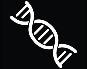 DNA Double Helix Vinyl Decal / Sticker 2(TWO) Pack
