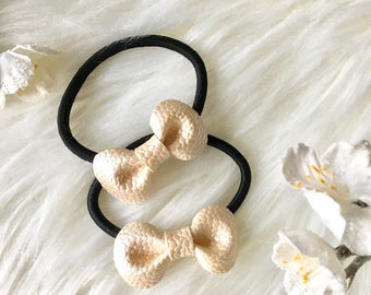 Piggy Tail/ Hair Bow Elastics/ Baby Pigtail/ Baby Ponytail/ Toddler Hair Bow / Hair Elastics/ Toddler Ponytail / Baby girl Gift