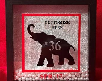 Elephant Shadow Box - Delta Sigma Theta Inspired