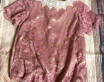 Romper, Size 6-12 months, Lace, Baby girl