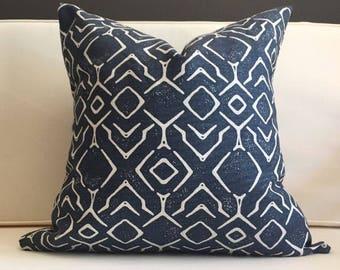 Pillow Cover, Blue Ikat Pillow Cover, SANTIAGO