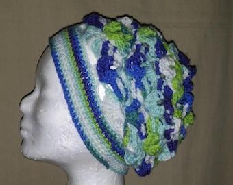 Handmade Womens  Crocheted Slouchy  Beanie/Hat/Beret/Tam
