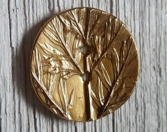 """Bronze Button ~1.5"""""""