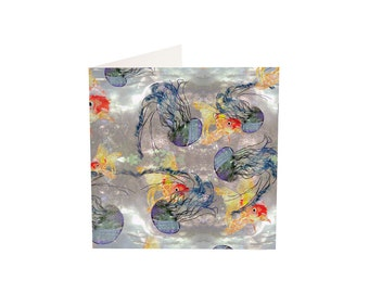 Jellyfish and Goldfish Greeting Card