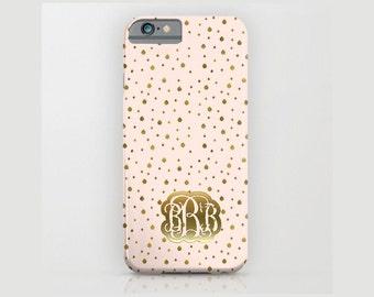 Custom Device case for iPhone / Samsung Galaxy, iPhone 7 /7s, iPhone 6 /6s, Samsung, Galaxy, Phone, Gold, Peach, Pink, Custom, Name, Gift